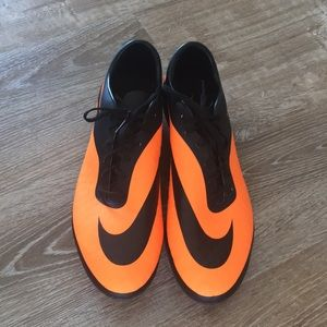 Hypervenom Nike orange cleats